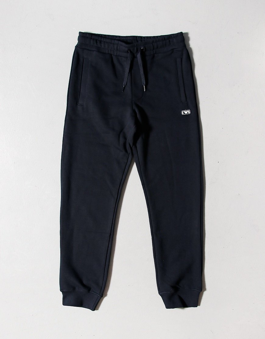 Armani Junior Fleece Jog Pants Navy