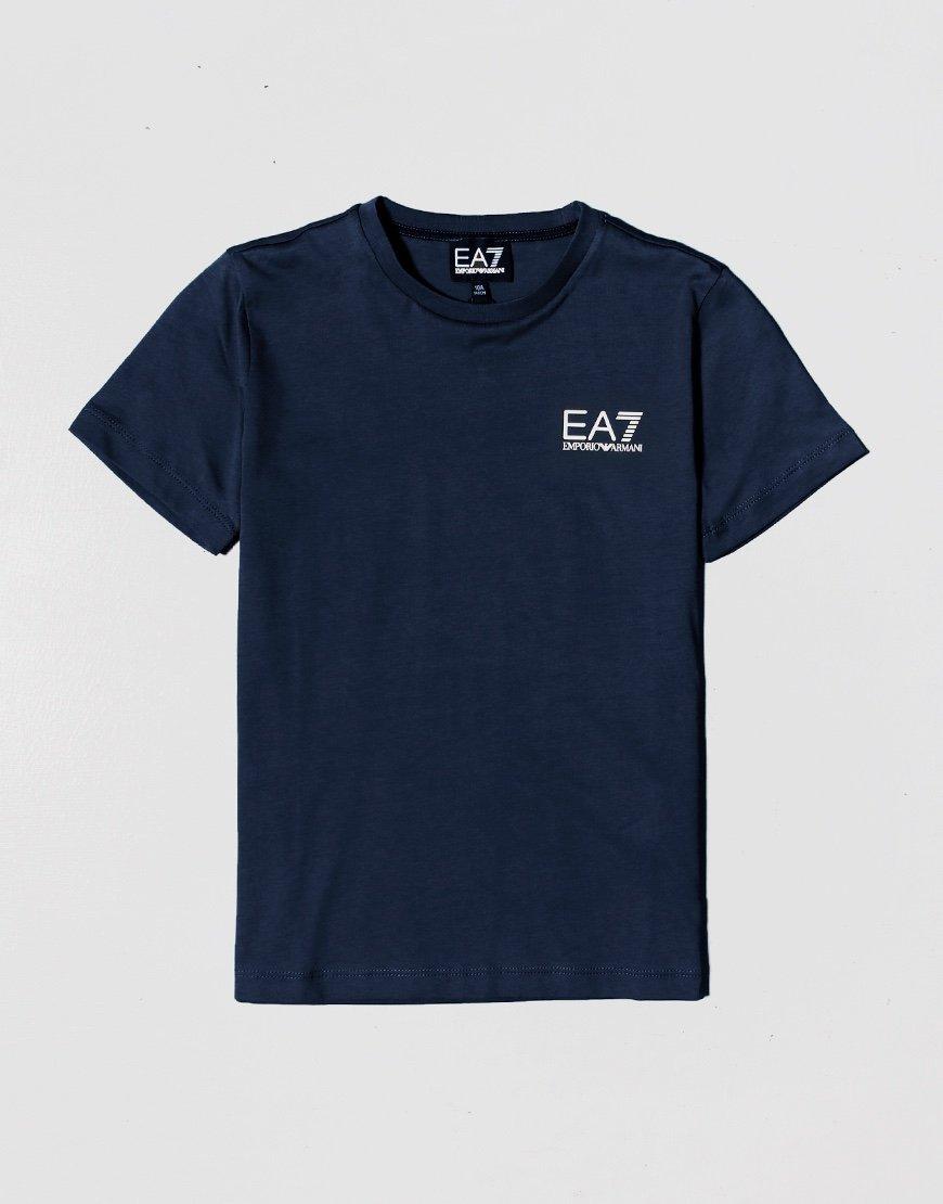 EA7 Kids Chest Logo T-shirt Navy