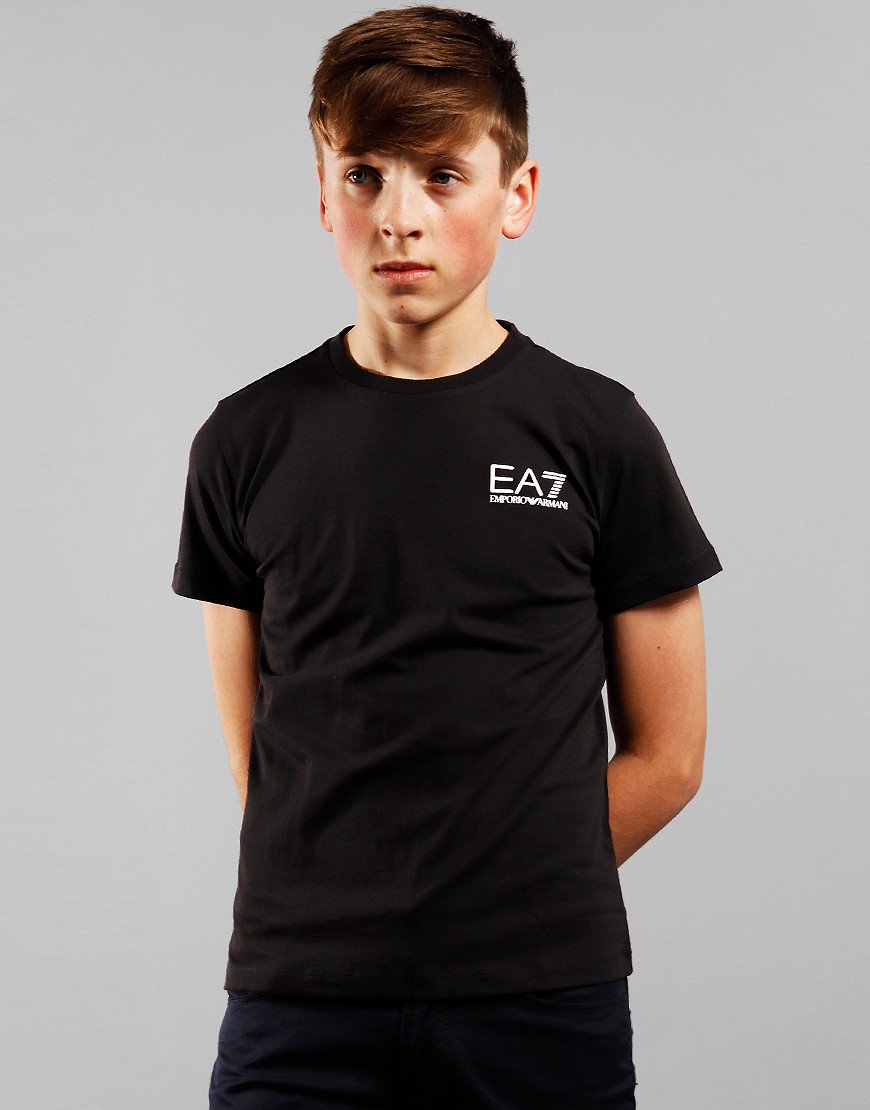 EA7 Kids Chest Logo T-Shirt Black