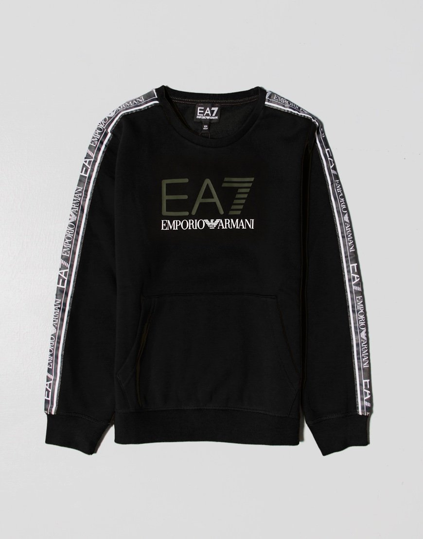 EA7 Kids Taped Sweatshirt Black