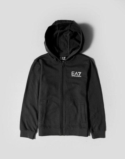 EA7 Kids Zip Sweat Black