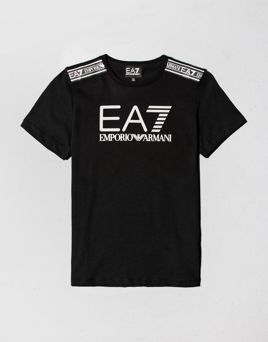 EA7 Kids Taped Large Logo T-shirt Black