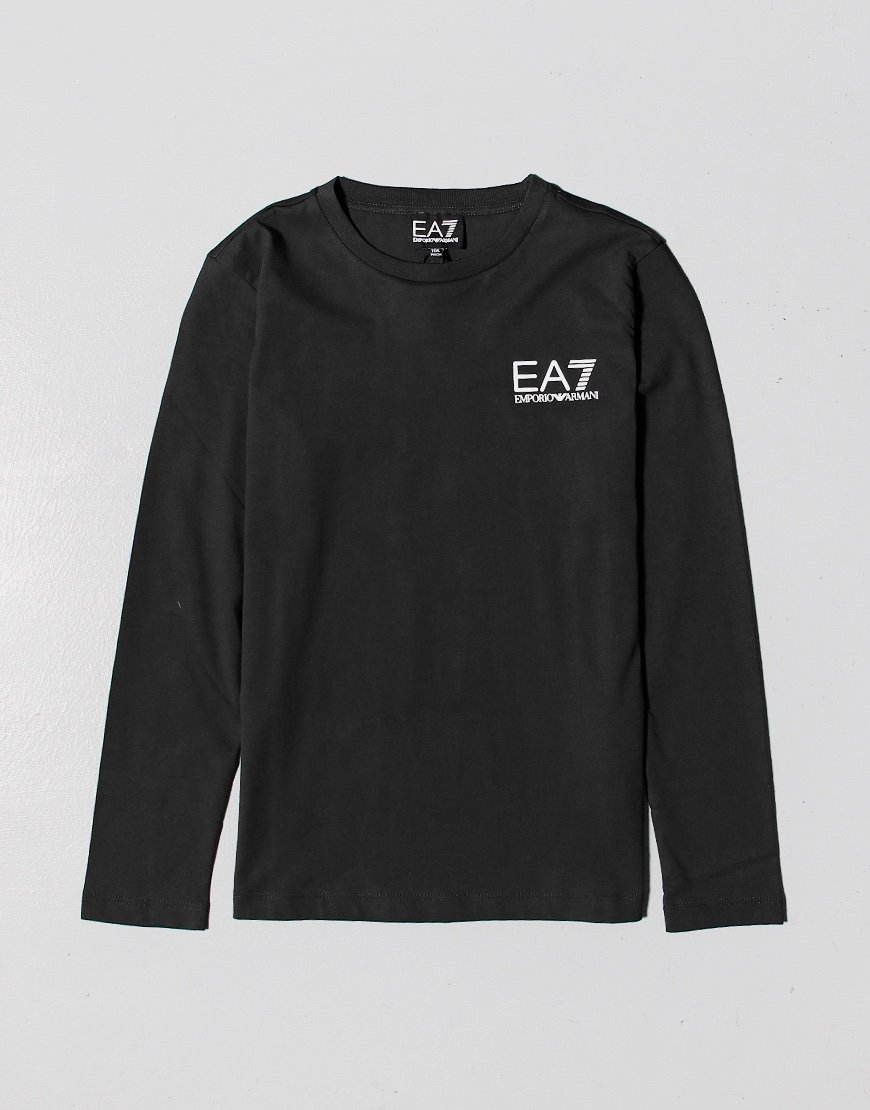 EA7 Kids Long Sleeve Logo T-shirt Black