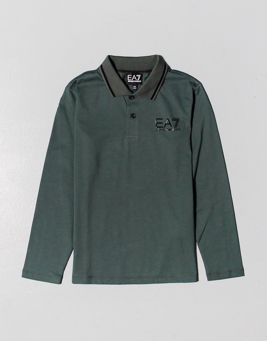 EA7 Kids Long Sleeve Tipped Polo Shirt Urban Chic