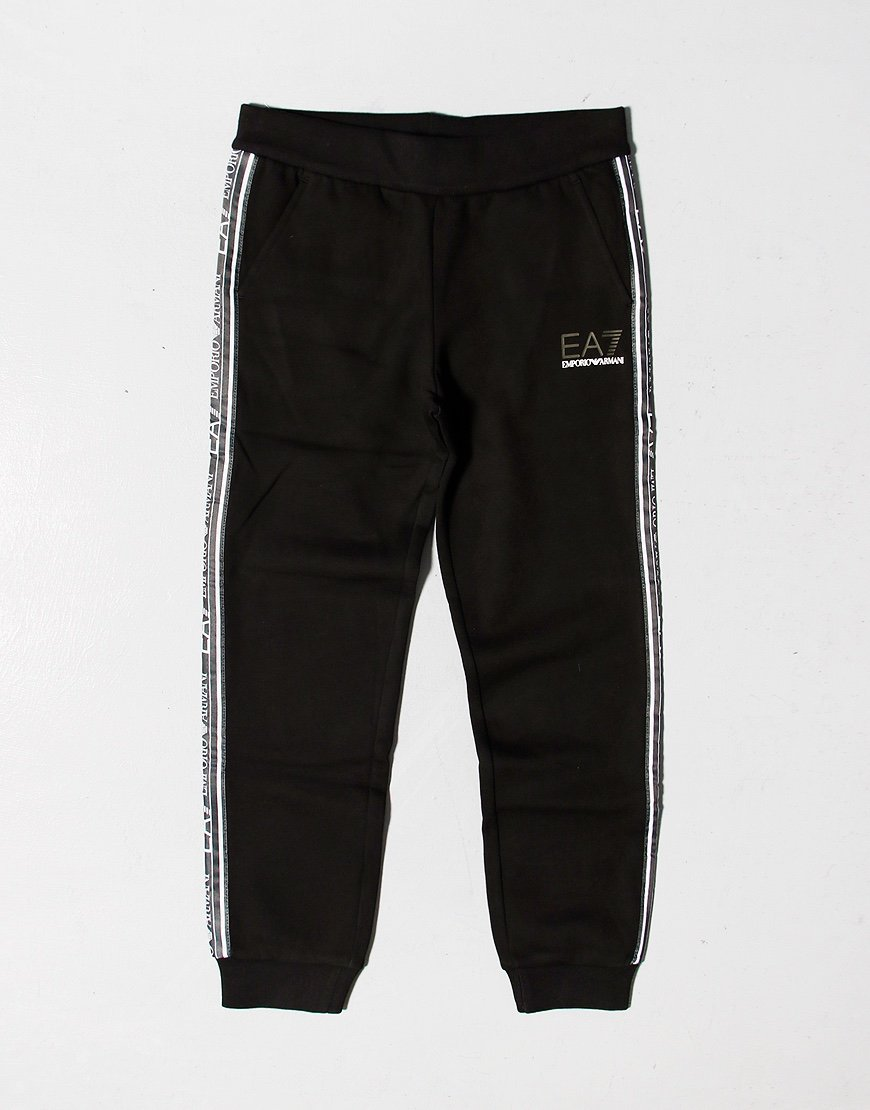 EA7 Kids Taped Joggers Black
