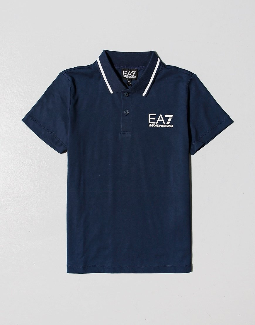 EA7 Kids Tipped Polo Shirt Navy