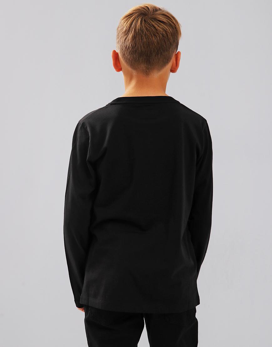 Armani Junior Long Sleeve T-Shirt Black