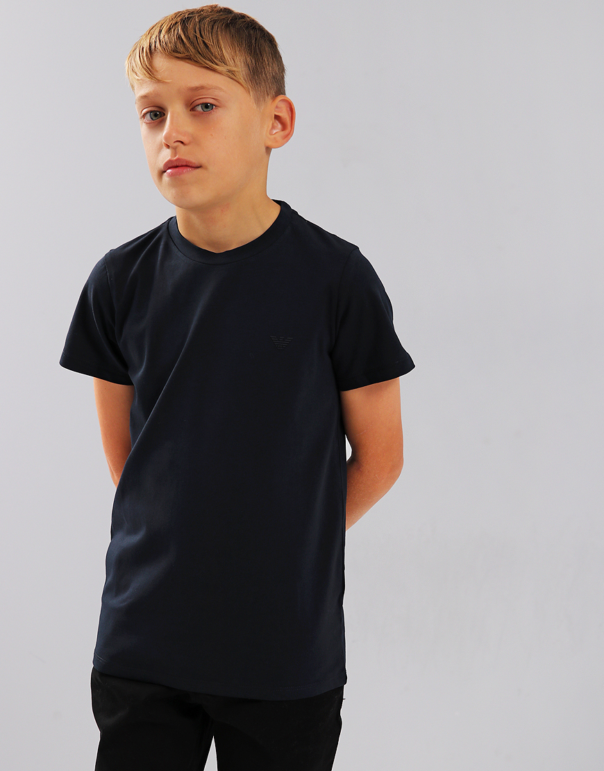 Armani Junior Small Logo T-Shirt Dark Blue