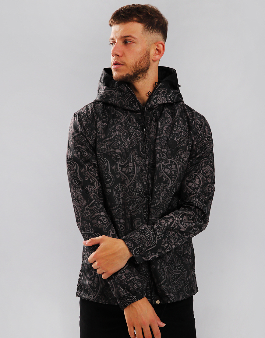 Pretty Green Paisley Ashworth Jacket Black
