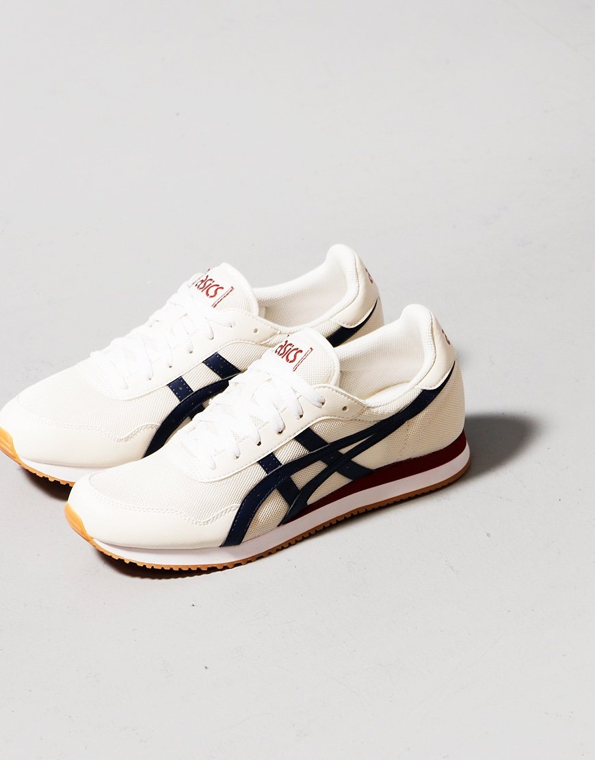 ASICS Tiger Runner Trainers Cream/Peacoat