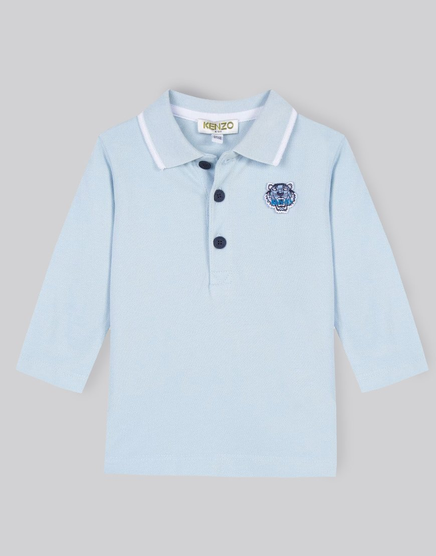 Kenzo Kids BB Per 2 Polo Shirt Light Blue