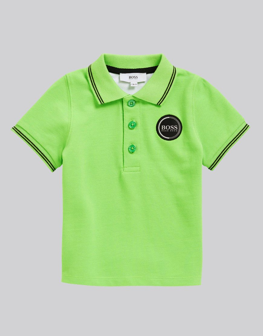 BOSS Baby Tipped Polo Shirt Green Flash