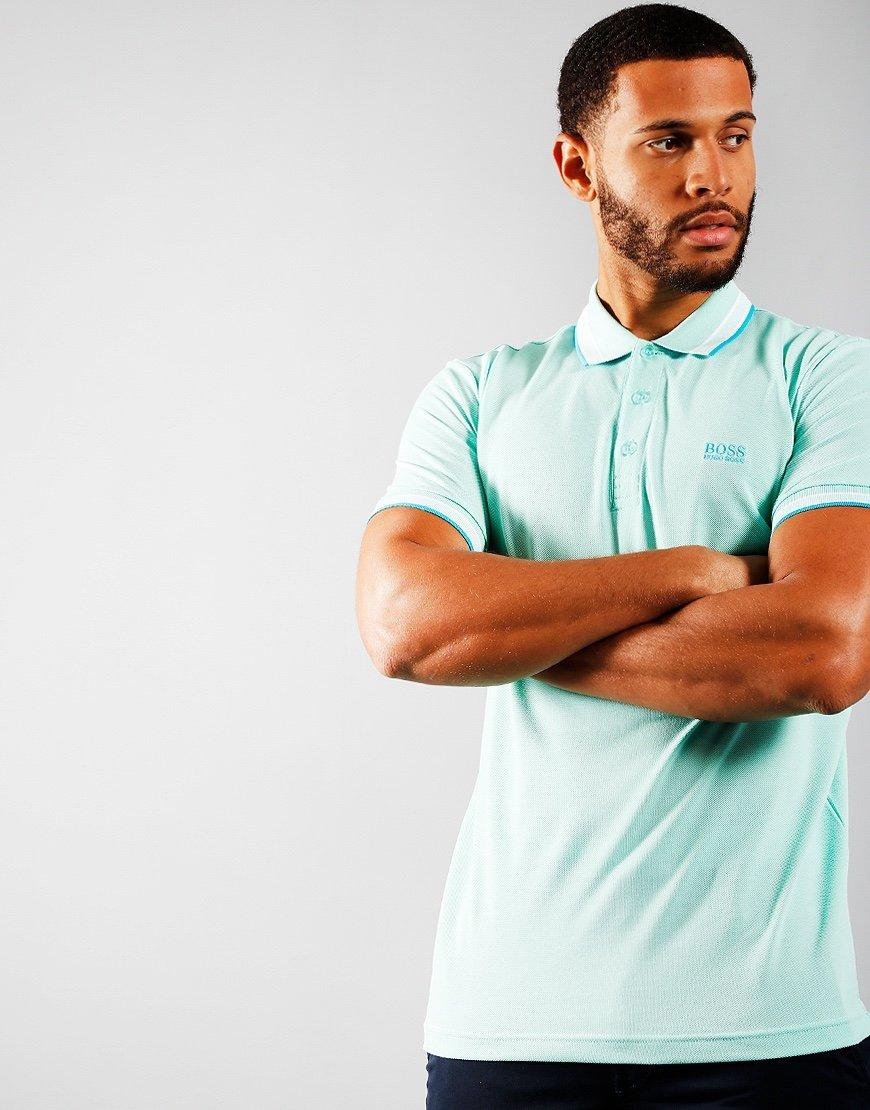 BOSS Paddy Polo Shirt Open Green