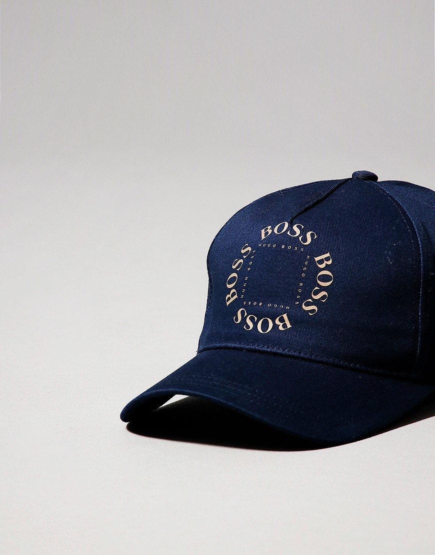 BOSS Gold Logo Cap Navy