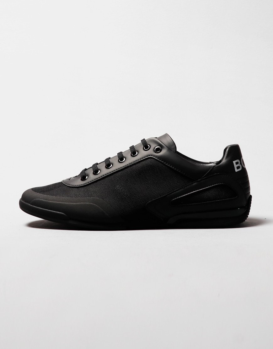 BOSS Saturn_Lowp Leather Trainers Black