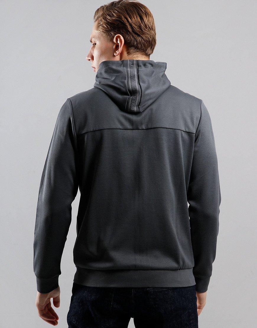 BOSS Saggy Hooded Zip Through Sweat Grey