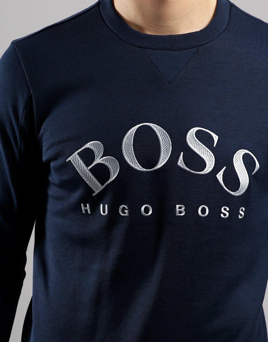 BOSS Salbo Embroidered Logo Sweat Navy