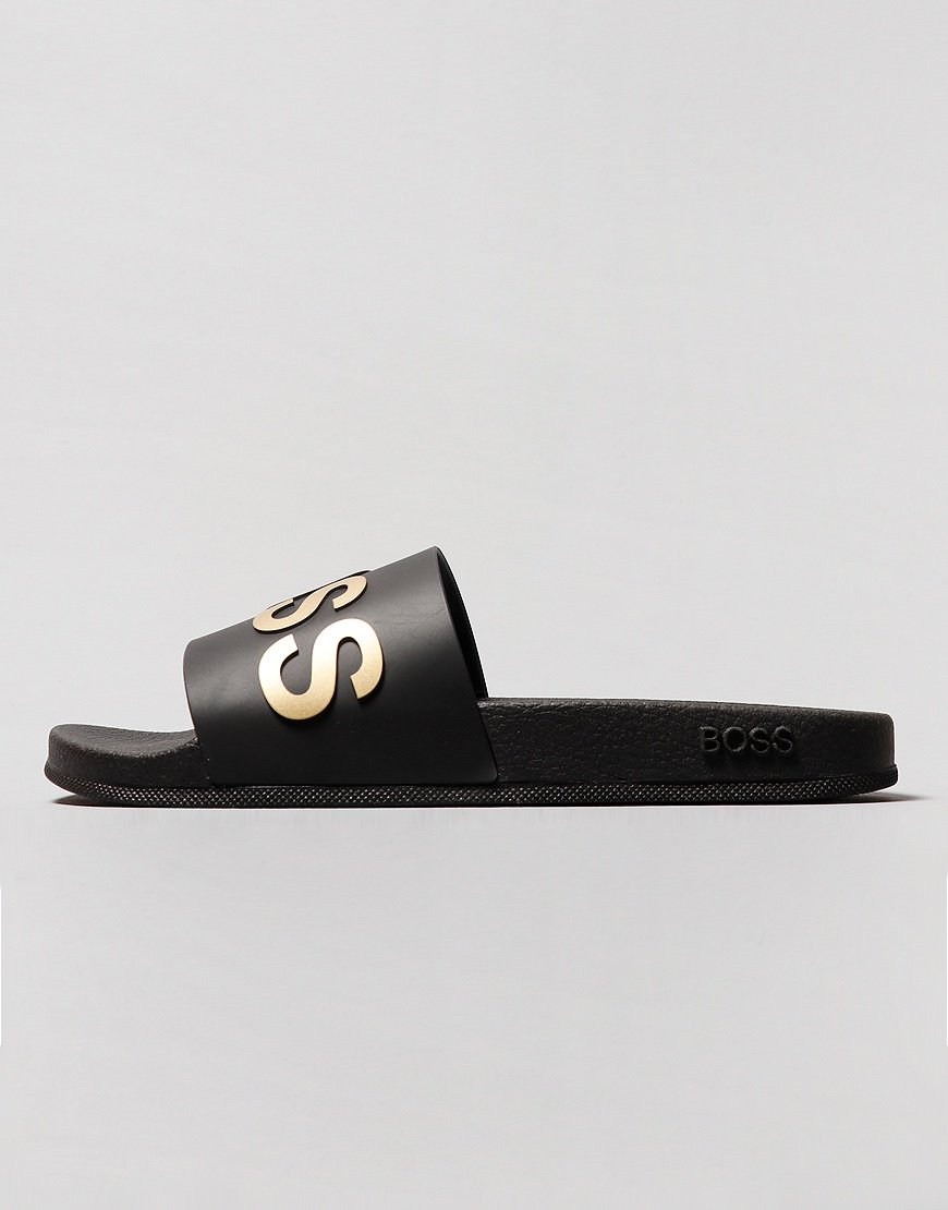 BOSS Italian Made Bay Slides Black