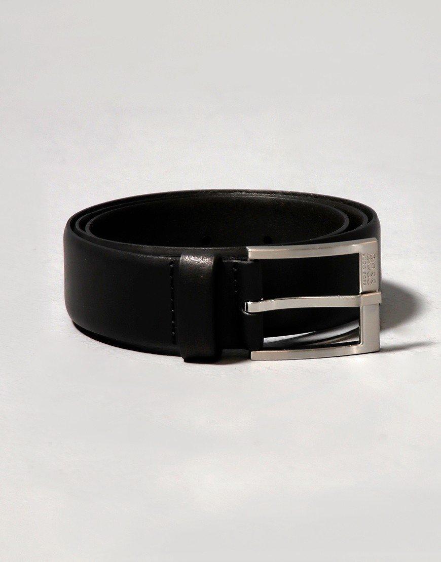 BOSS Erron Leather Belt Black