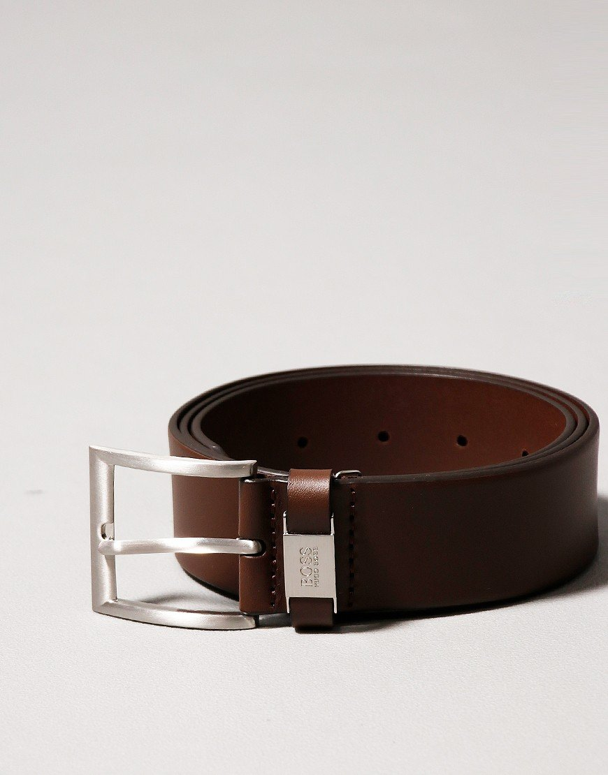 BOSS Connio Belt Dark Brown