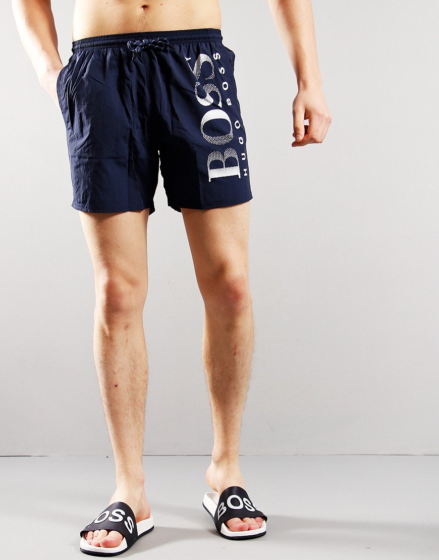 BOSS Octopus Logo Print Shorts Bright Navy