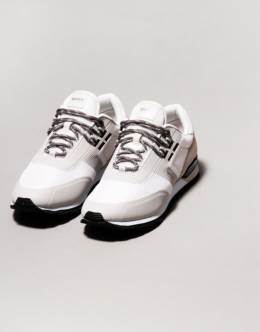 BOSS Parkour Run Trainers Open White