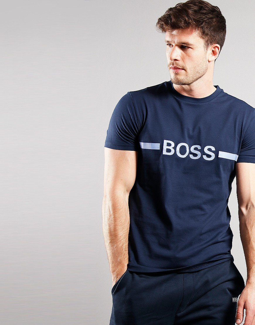 BOSS Bodywear RN Slim fit T-Shirt Navy