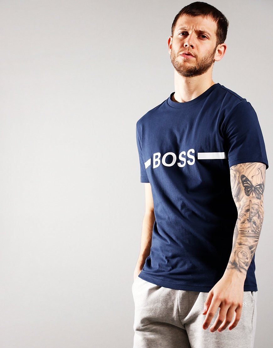 BOSS Bodywear RN Slim fit T-Shirt Bright Navy