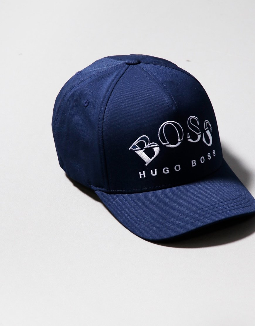 BOSS Technical Twill Curved Cap Navy