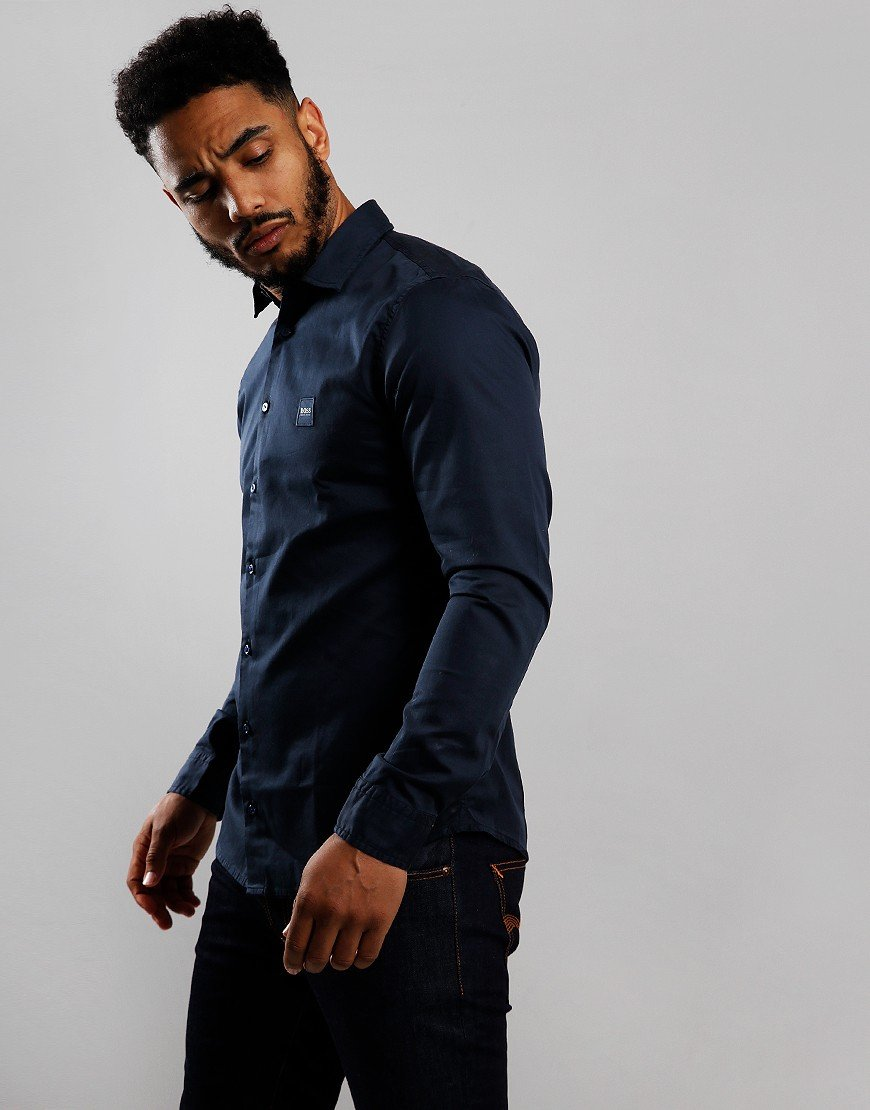 BOSS Mypop 2 Long Sleeve Shirt Dark Blue