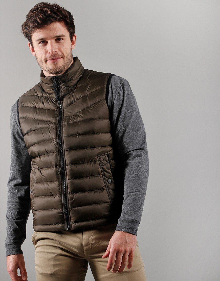 BOSS Casualwear Olmeev Gilet Beige/Khaki