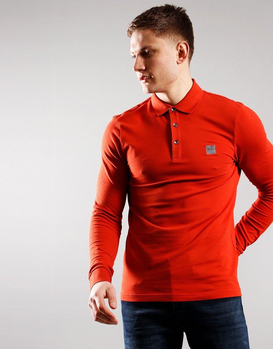 BOSS Passerby Polo Shirt Medium Red