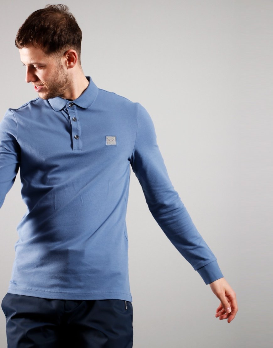 BOSS Passerby Polo Shirt Open Blue