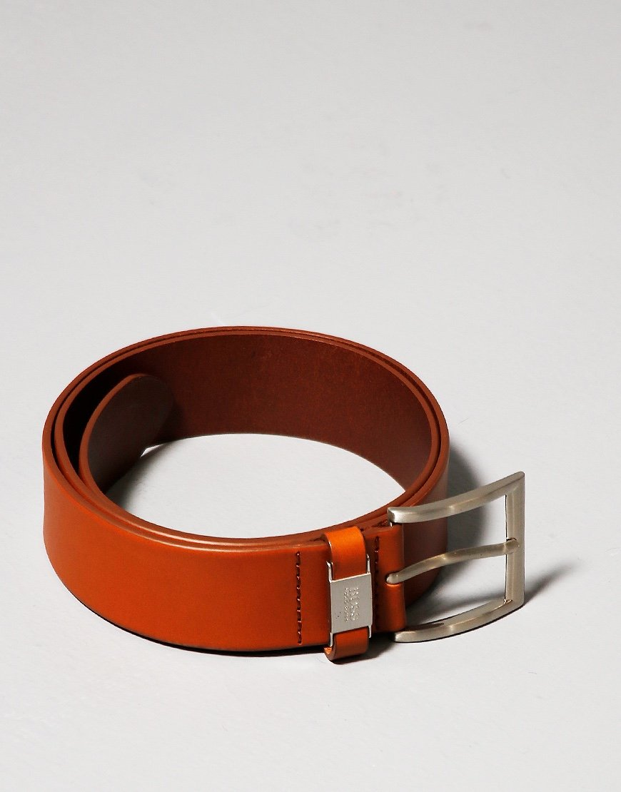 BOSS Connio Leather Belt Medium Brown