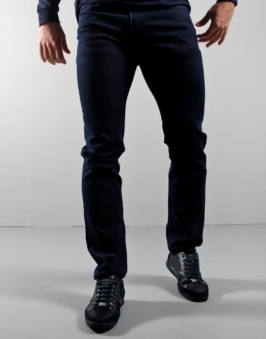 BOSS Delaware Slim Fit Jeans Navy