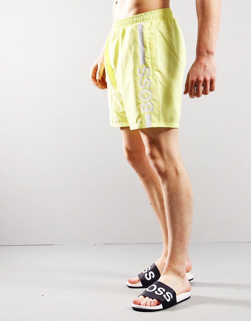 BOSS Dolphin Logo Print Shorts Light/ Pastel Yellow