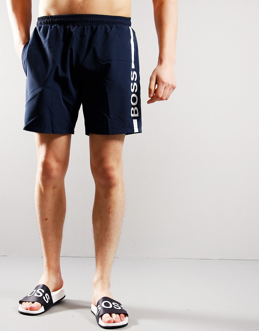 BOSS Dolphin Swim Shorts Navy