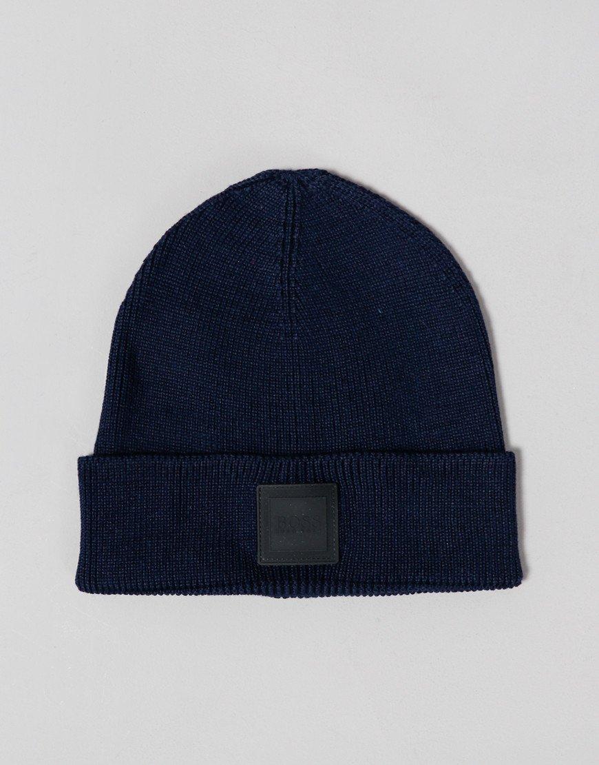 BOSS Foxx Beanie Hat Dark Blue