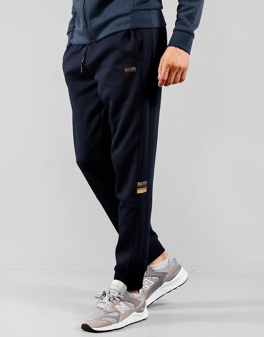 BOSS Halvo Fleece Joggers Dark Blue