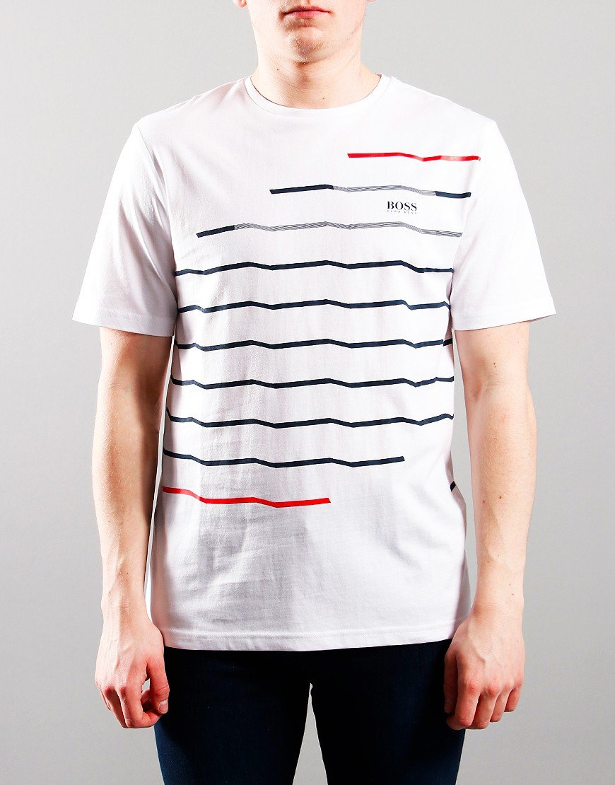 BOSS Kids Stripe Logo T-Shirt White