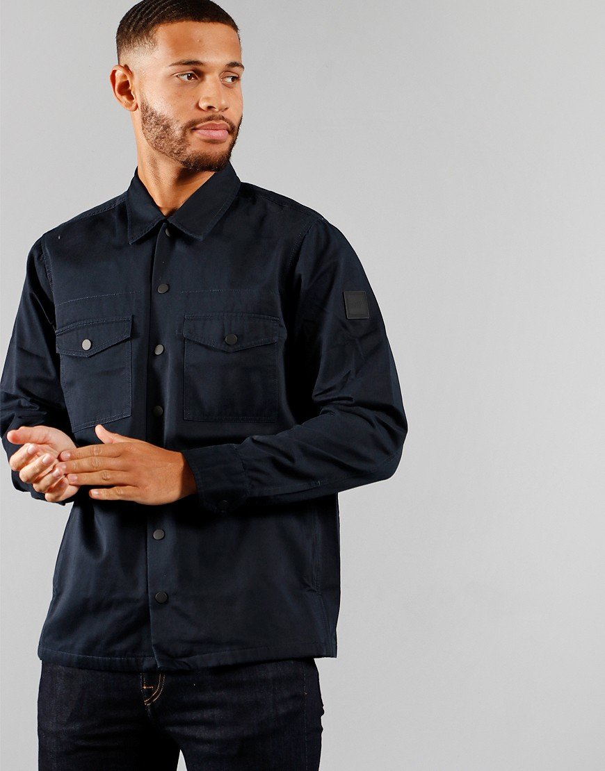 BOSS Casualwear Lovel_4 Open Overshirt Dark Blue