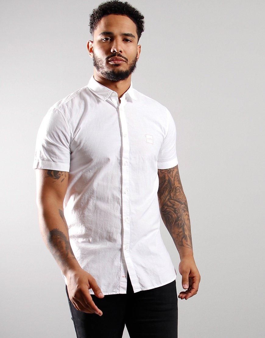 BOSS Magneton 1 Short Sleeved Shirt White