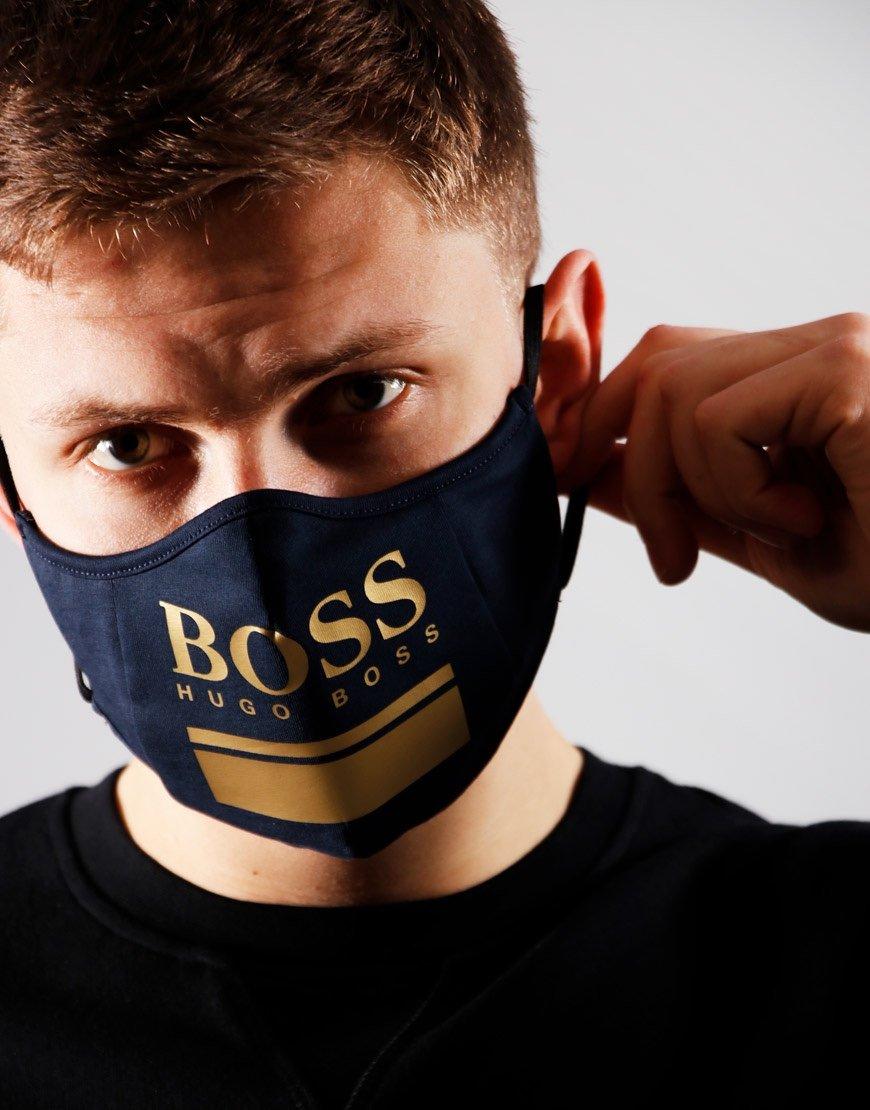 BOSS 968 Face Mask Gold/Navy