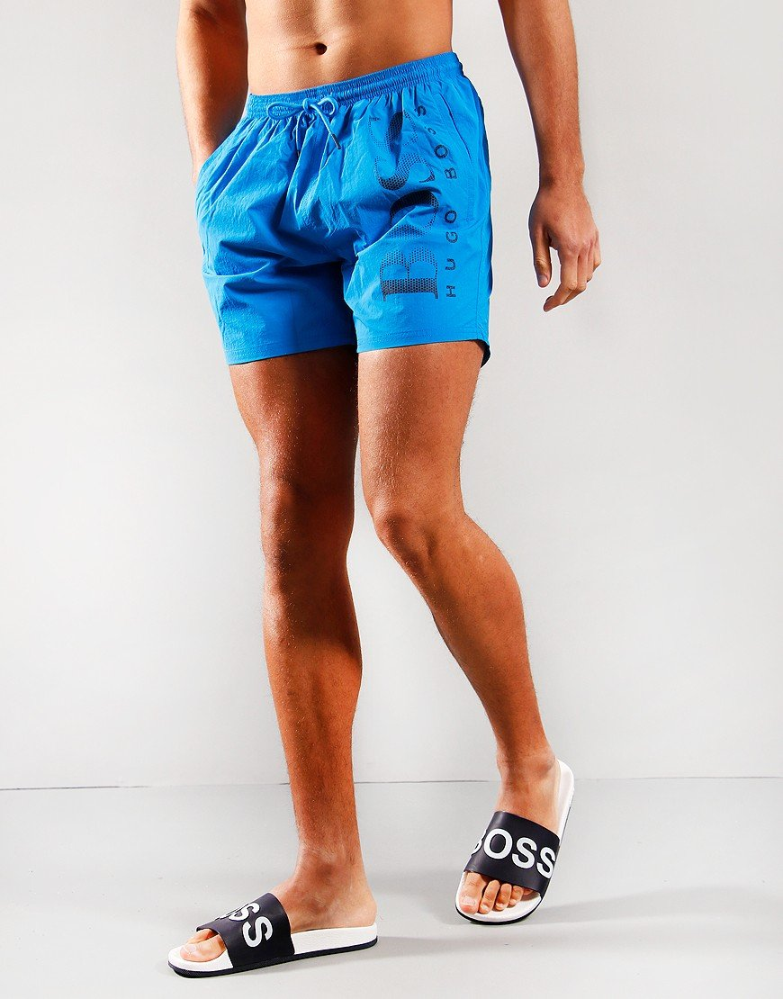 BOSS Octopus Logo Print Shorts Bright Blue