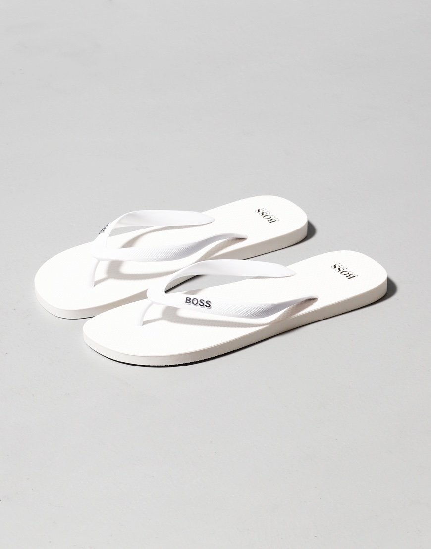 BOSS Pacific Flip Flops White