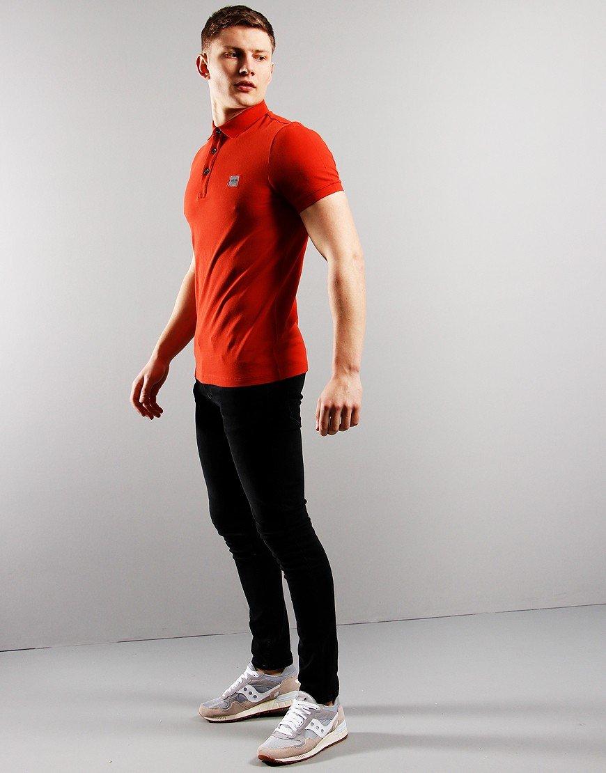 BOSS Passenger Polo Shirt Medium Red 610