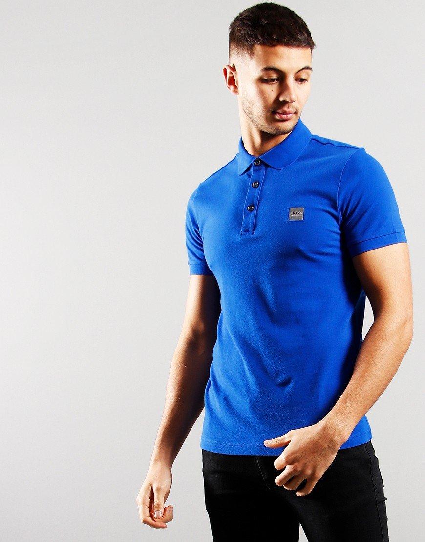 BOSS Passenger Polo Shirt Open Blue