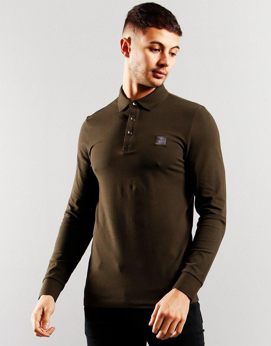 BOSS Passerby Polo Shirt Open Green