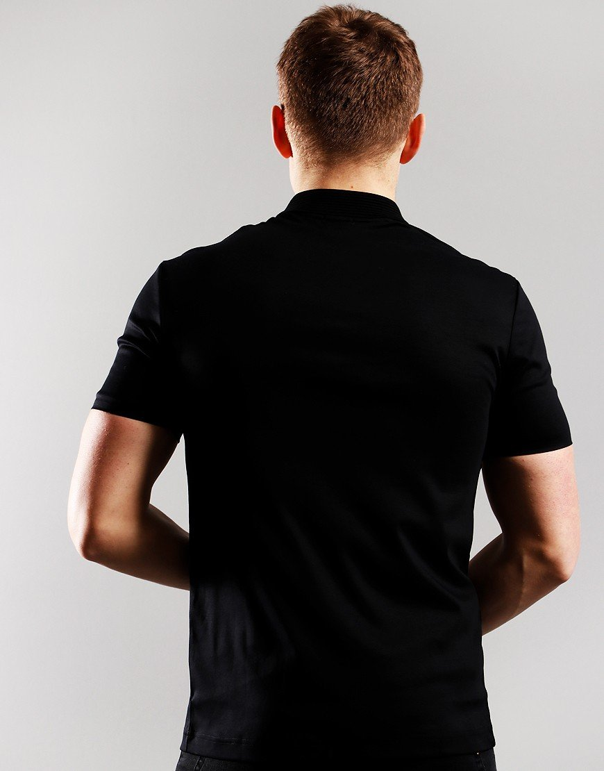 BOSS Paul Gold Polo Shirt Black