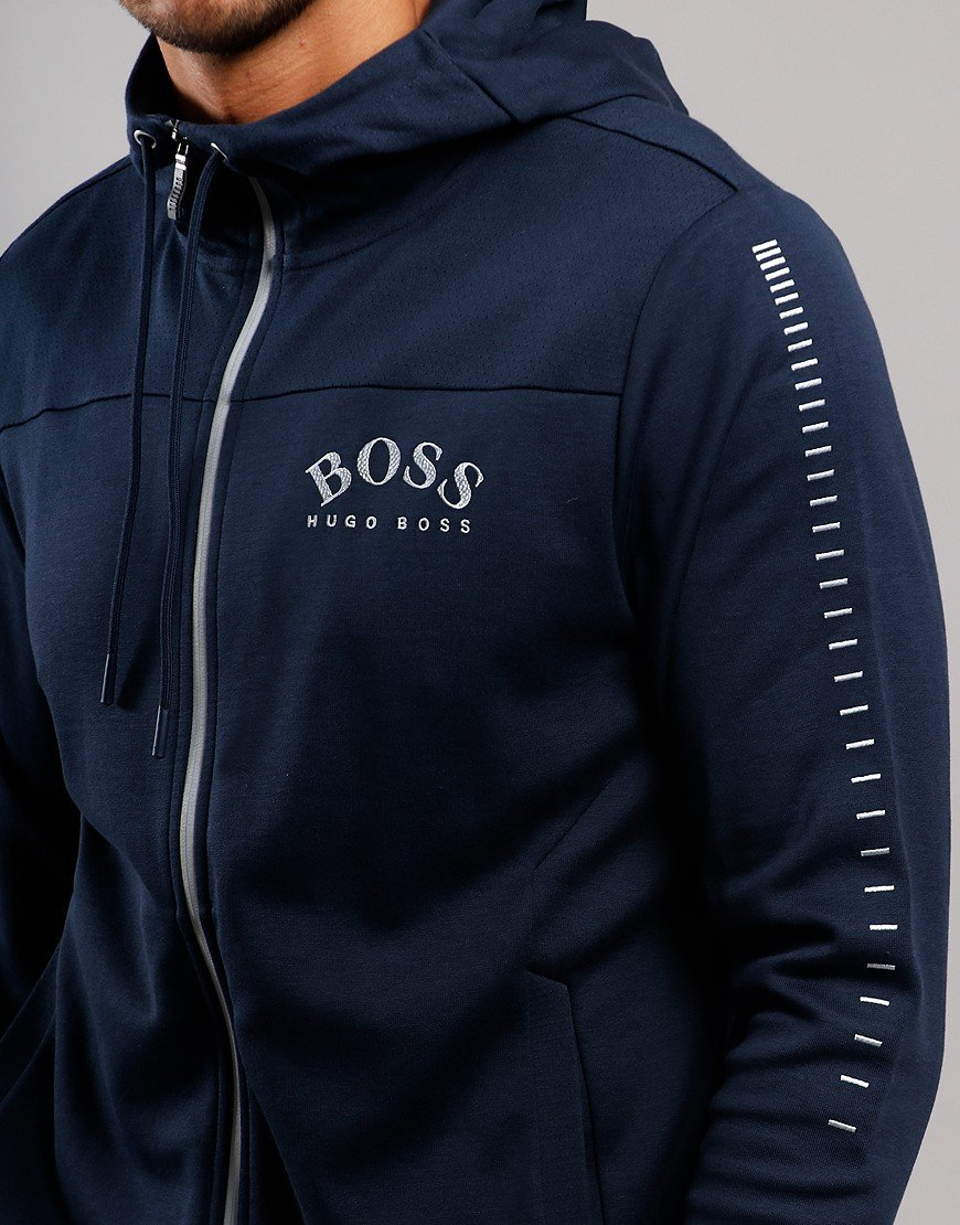 BOSS Saggy Win Hooded Sweat  Navy